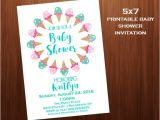 Ice Cream Baby Shower Invitations Ice Cream Baby Shower Invitations Mint and Pink Printable