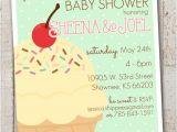 Ice Cream Baby Shower Invitations Ice Cream Baby Shower Invitations