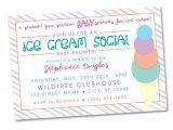 Ice Cream Baby Shower Invitations Ice Cream social Baby Shower Invitation