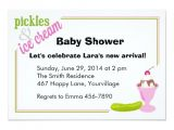 Ice Cream Baby Shower Invitations Pickles & Ice Cream Baby Shower Invitations