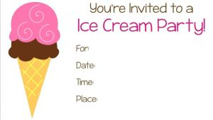 Ice Cream Party Invitation Template Free Ice Cream Party Free Printable Invitation Parties Ice