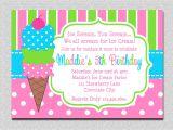 Ice Cream Party Invitations Printable Free Ice Cream Birthday Invitations Pink and Green Ice Cream