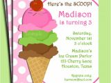 Ice Cream Party Invitations Printable Free Ice Cream Invitation Printable or Printed with Free