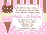 Ice Cream Party Invitations Wording Ice Cream Birthday Party Invitations Dolanpedia