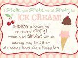 Ice Cream Party Invitations Wording Ice Cream social Invitation Template