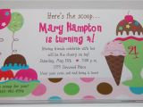 Ice Cream Sundae Party Invitations Baby Face Design Ice Cream Sundae Birthday Party Invitation