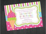 Ice Cream theme Party Invitations Birthday Invitation Ice Cream theme Birthday by