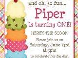 Ice Cream theme Party Invitations Ice Cream themed Birthday Party Invitation
