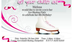 Ice Skating Birthday Party Invitations Free Printable Best Photos Of Ice Skating Party Invitation Templates