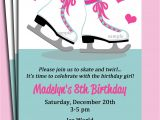 Ice Skating Birthday Party Invitations Free Printable Ice Skating Invitation Printable or Printed with Free Shipping