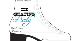 Ice Skating Party Invitation Template Free Bnute Productions Free Printable Ice Skating Party Invitation