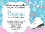 Ice Skating Party Invitations Free Printable Ice Skating Birthday Invitations Ice Skating Birthday