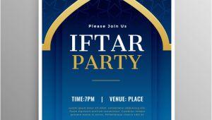 Iftar Party Invitation Template Ramadan iftar Party Invitation Template Vector Free Download