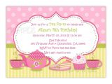 Images Of Tea Party Invitations Tea Party Birthday Invitation You Print