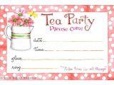 Images Of Tea Party Invitations Tea Party Invitation Susan Branch Blog