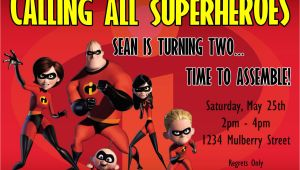Incredibles Birthday Invitation Template the Incredibles Birthday Invitation Design by Kariannkelly
