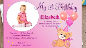 Indian Birthday Invitation Card Template 1st Birthday Invitation Cards for Baby Boy In India In