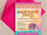 Indian Birthday Party Invitations Bollywood Children 39 S Party Invitation From 0 80 Each