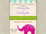 Indian Birthday Party Invitations Bollywood themed Birthday Party Invitations Girls Indian