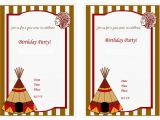 Indian Birthday Party Invitations Indians Birthday Invitations Birthday Printable