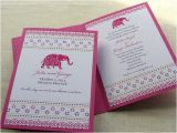 Indian Birthday Party Invitations Items Similar to Indian Invitation Decorated Elephant