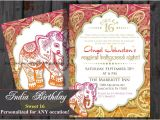 Indian Birthday Party Invitations Sweet 16 Sixteen Birthday Bollywood Invitation Indian