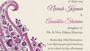 Indian Wedding Invitations Wording Indian Wedding Invitation Wording Template Shaadi Bazaar