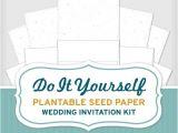 Inexpensive Plantable Wedding Invitations Do It Yourself Plantable Seed Paper Wedding Invitation Kit