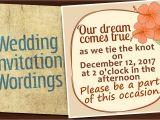 Informal Wedding Invitation Templates Informal Wedding Invitation Wordings for An Affectionate touch