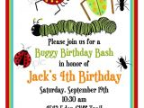 Insect Birthday Party Invitations Bug Invitations Bugs Insects Camping Ladybugs Ants
