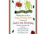 Insect Birthday Party Invitations Bugs Birthday Invitations Zazzle