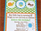 Insect Birthday Party Invitations Items Similar to Bug Invitations Insect Invites Bug Party