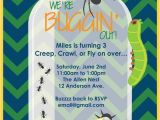 Insect Birthday Party Invitations Printable or Emailable Bugs Insect Birthday Party