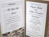 Inside A Wedding Invitation Recent Works Invitation Boutique Wagga Wagga