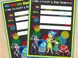 Inside Out Party Invitations Free Printable Disney Pixar Inside Out Birthday Invitation
