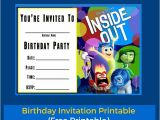 Inside Out Party Invitations Free Printable Inside Out Birthday Invitation Templates