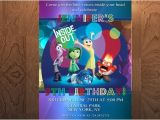 Inside Out Party Invitations Inside Out Birthday Invitation Printable Birthday Invitation
