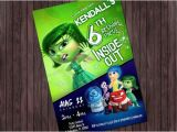 Inside Out Party Invitations Inside Out Disgust Printable Birthday Party Invitation