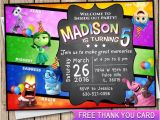 Inside Out Party Invitations Inside Out Invitation Birthday Card Free Thank You Card Inside