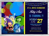 Inside Out Party Invitations Inside Out Invitation Chalkboard Blue Inside Out Birthday