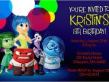 Inside Out Party Invitations Inside Out Invitations Birthday Party Invites