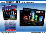 Inside Out Party Invitations Inside Out Party Packge and Invitation Printable and