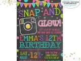 Instagram Party Invitations Emoji Birthday Invitation Instagram Birthday Invitation Neon