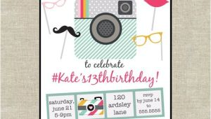 Instagram Party Invitations Items Similar to Instagram Inspired Birthday Party