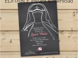Instant Download Bridal Shower Invitations Editable Instant Download Bridal Shower Invitation