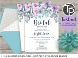 Instant Download Bridal Shower Invitations Instant Download Bridal Shower Invitations