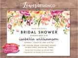 Instant Download Bridal Shower Invitations Instant Download Diy Pdf Bridal Shower Invitation