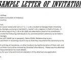 International Student Graduation Invitation Letter Sample Invitation Letter for Us Visa Template Resume Builder
