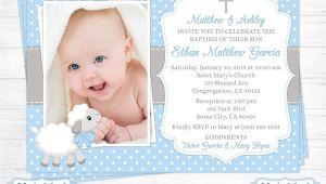 Invitation Card Baptism Baby Boy Baptism Invitations for Boys Christening Invitations for