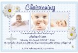 Invitation Card Design for Baptism Christening Invitation Cards Christening Invitation